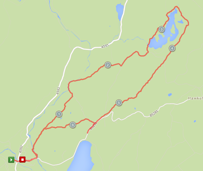 Map Coniston to Tarn Hows