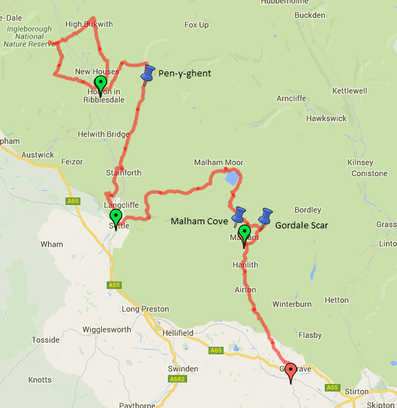 Map Horton to Gargrave